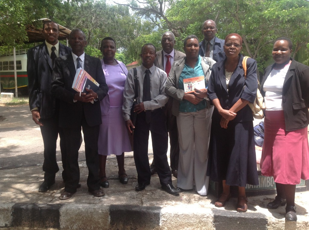 Some of the textbook writers and KLCDA leadership posing for a photo after the launch.
